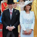 The Middletons pictured at the Royal Wedding in 2011 when their relations with the Prince were more cordial