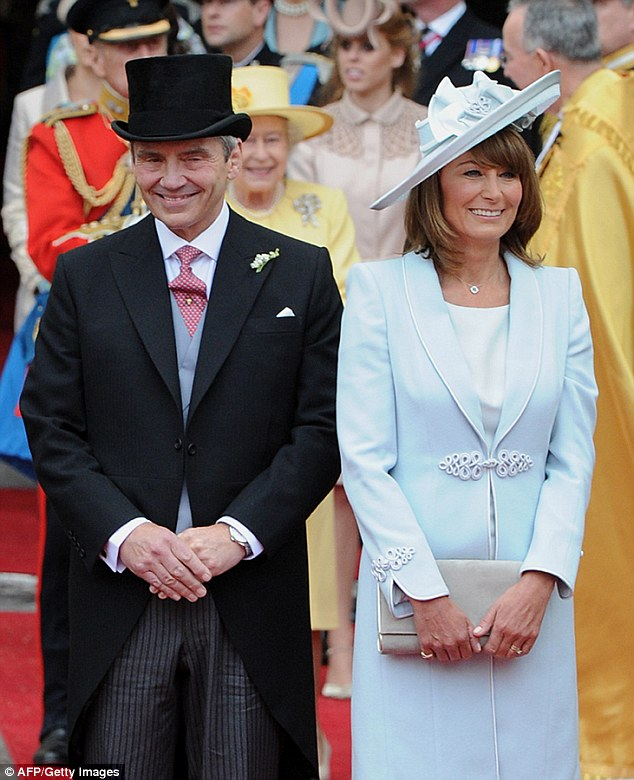The Middletons, pictured at the Royal Wedding in 2011, when their relations with the Prince were 'more cordial'