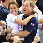 The couple shared a loving embrace while cheering on Team GB at London 2012 Photo C GETTY