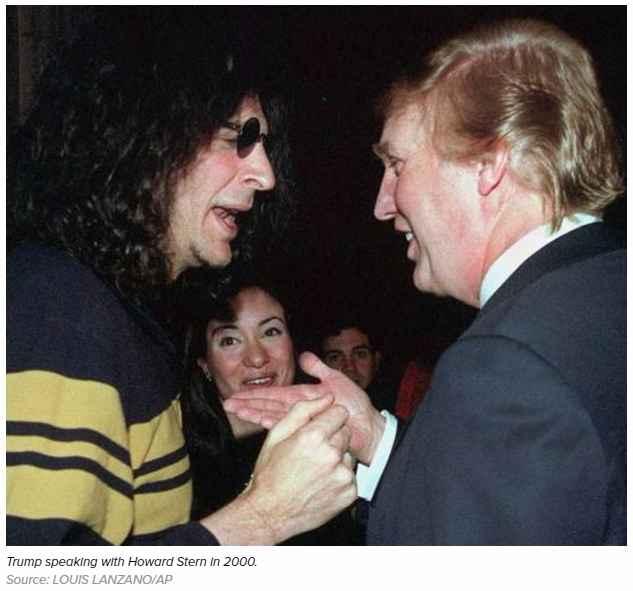 Trump speaking with Howard Stern in 2000