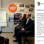 kensingtonroyalToday The Duke of Cambridge is at The Mix in London launching a new helpline which charity Centrepoint has set up to provide a phone service to help young homeless people