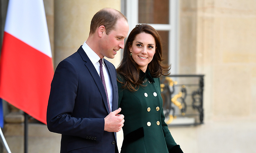 Kate Middleton and Prince William in love during their official visit Photo (C) GETTY IMAGES
