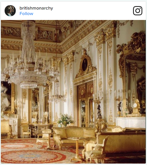 3 Buckingham Palace Changing Interior Photo C INSTAGRAM