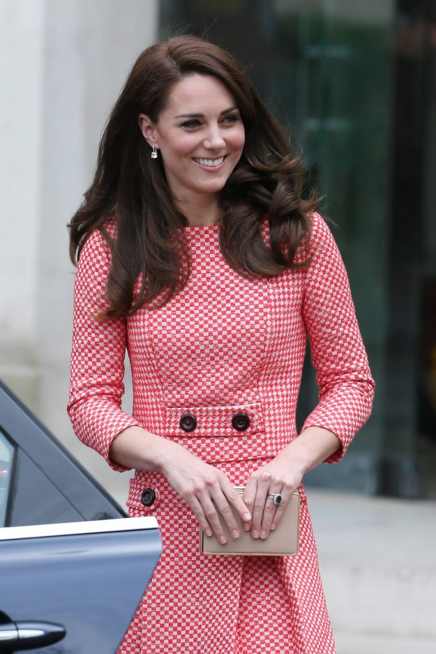 Kate Middleton re-wore a gingham suit to talk about motherhood and mental health [Getty]