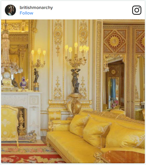 Buckingham Palace Changing Interior Photo (C) INSTAGRAM