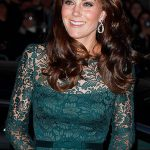 3 Catherine Duchess of Cambridge was dressed to impress wearing a floor length dark green Temperley dress that featured delicate lace detailing Photo C GETTY IMAGES