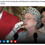 3 The queen loves having gin and Dubonnet cocktail before having her lunch