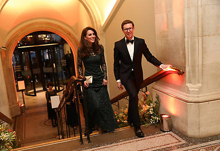 Kate was greeted by National Portrait Gallery Director Nicholas Cullinan and warmly welcomed to the musem. Photo: © Getty Images
