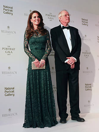 The Duchess posed alongside Chair of Trustees William Proby at the start of the event. Photo: © Getty Images