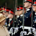 A smile Britains Prince Harry second from right grins as his grandmother Queen Photo C GETTY