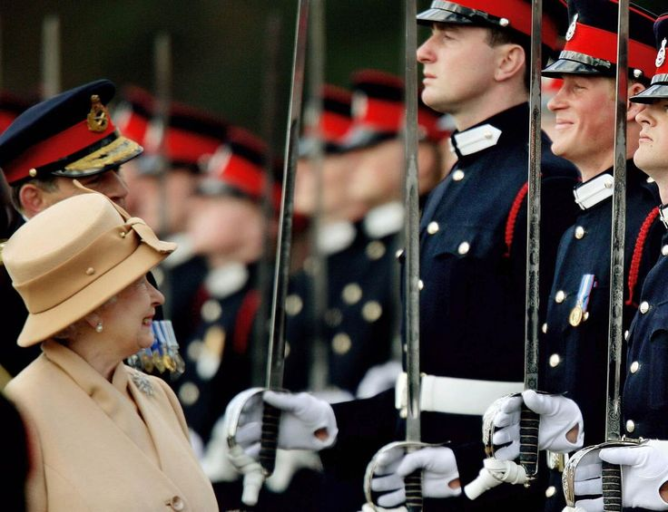 A smile Britain's Prince Harry, second from right, grins as his grandmother Queen Photo (C) GETTY
