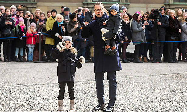Baby Prince Oscar and Princess Estelle steal the show at mum Victorias name day Photo C GETTY IMAGES