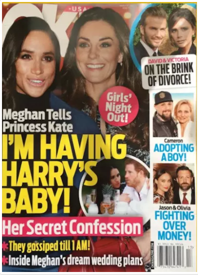 Because Markle is finally the subject of wild pregnancy speculation Photo (C) OK MAGAZINE