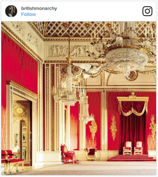 Buckingham Palace Changing Interior Photo (C) INSTAGRAM