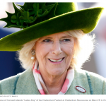 "Camilla Duchess of Cornwall attends ""Ladies Day"" of the Cheltenham Festival at Cheltenham Racecourse on March 15 in Cheltenham England."