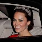 Catherine Duchess of Cambridge wears the Cambridge Lover's Knot tiara. Photo C GETTY IMAGES