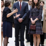 Director Laurence des Cars led the two royals around the Impressionist collection