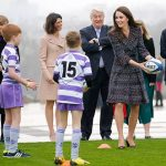 Duchess Kate put her own rugby skills to the test during her royal visit to Paris. Photo C GETTY