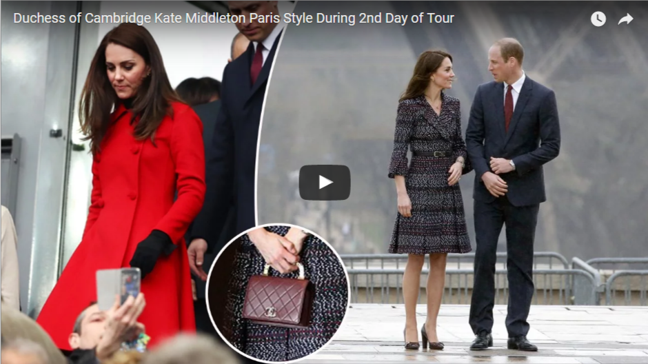 Duchess of Cambridge Kate Middleton Paris Style During 2nd Day of Tour