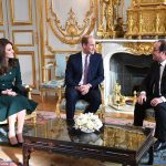 Earlier in the day the Duchess of Cambridge Prince William and Francios Holland met at the Elysée Palace