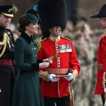 Earlier the Duke and Duchess of Cambridge attended the annual Irish Guards St Patricks Day Parade in West London