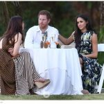 For Markle it is thought to be the first time she has accompanied Harry to a wedding