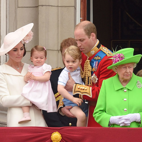 He was even scolded by the Queen for doing it at the Trooping the Colour event Photo C GETTY IMAGES