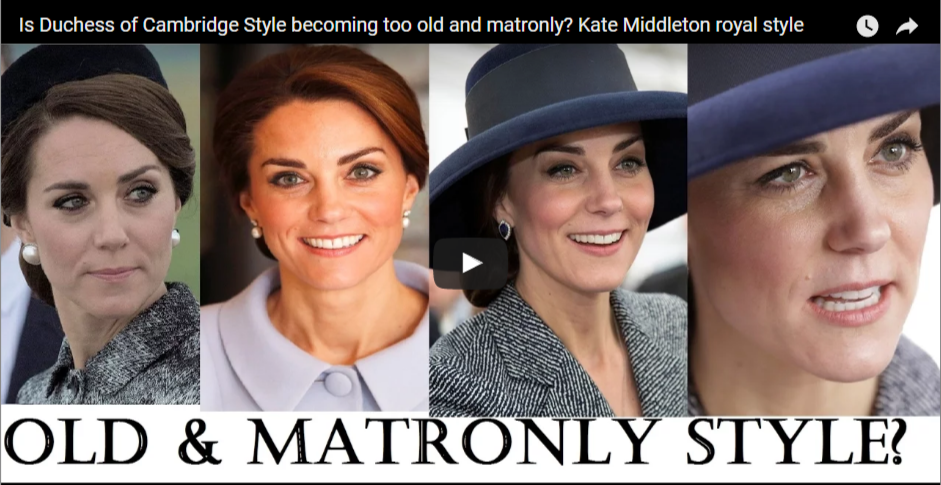 Is Duchess of Cambridge Style becoming too old and matronly