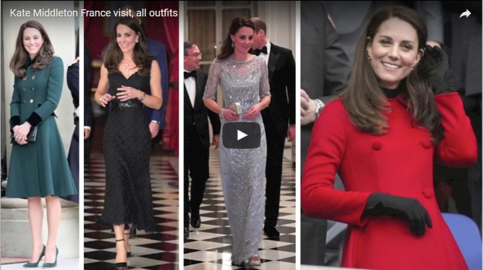 Kate Middleton France visit all outfits