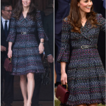 Kate Middleton Paris style The dress was woven with multi coloured thread