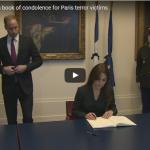 Kate Middleton Sign Book of Condolence Paris Terror Victims Paris Terror Victims Royals Visit Official Visit