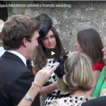 Kate Middleton and Pippa Middleton attend a friends wedding