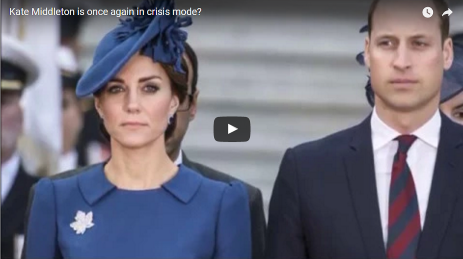 Kate Middleton is once again in crisis mode