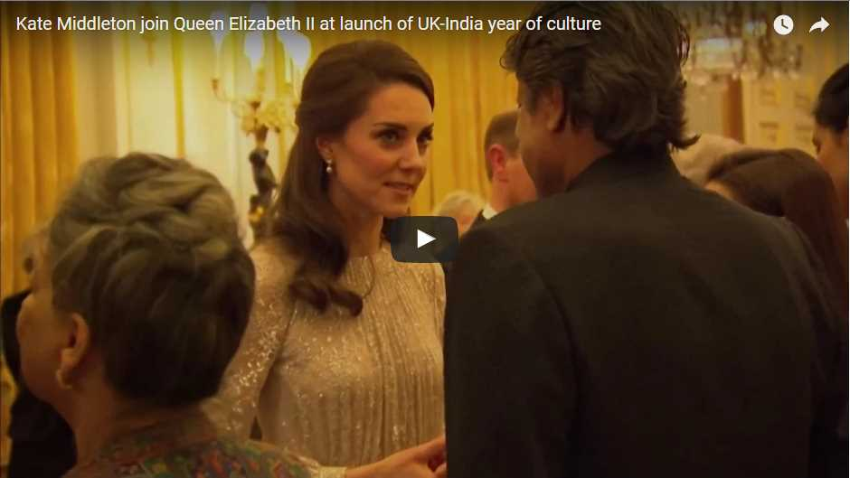 Kate Middleton join Queen Elizabeth II at launch of UK-India year of culture