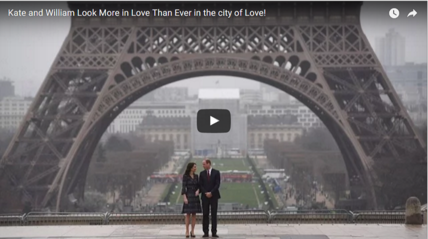 Kate and William Look More in Love Than Ever in the city of Love