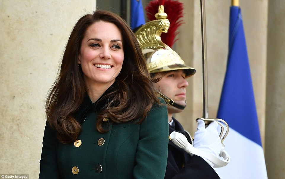 Kate brushed her husband's Alpine antics aside as she put on a dazzling display in Paris on Friday. Despite jetting in from London she showed no signs of fatigue