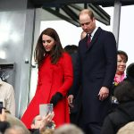Kate wore her Carolina Herrera red coat to the Wales vs France rugby match. Photo C GETTY IMAGES