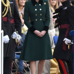 Kate wore this on March 17 — St. Patricks day — so the green isn't an unusual choice.