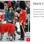 Meeting Domhnall for the first time during the Irish Guards St Patricks Day Parade in Aldershot England