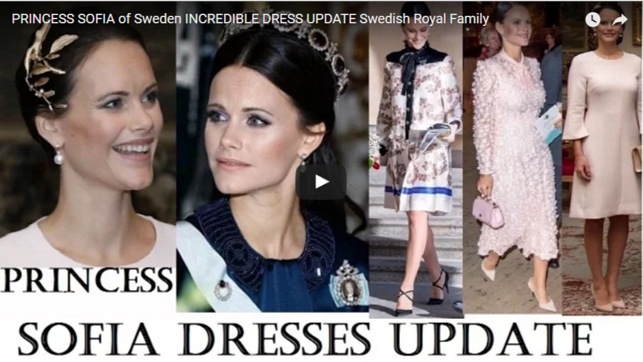 PRINCESS SOFIA of Sweden INCREDIBLE DRESS UPDATE Swedish Royal Family