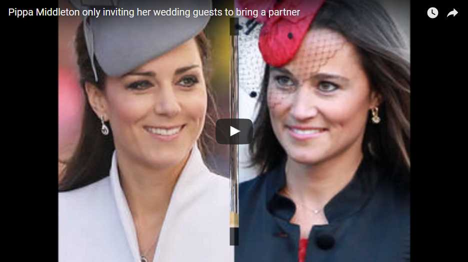 Pippa Middleton only inviting her wedding guests to bring a partner