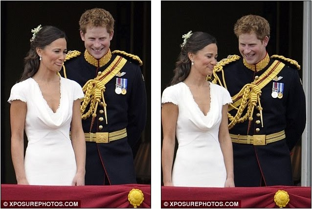 Pippa and the Prince on the Palace balcony