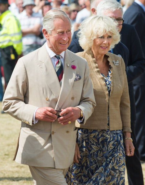 KING'S LYNN, ENGLAND - JULY 30: Prince Charles, Prince of Wales and Camilla, Duchess of Cornwall attend Sandringham Flower Show on July 30, 2014 in Sandringham, England. (Photo by Samir Hussein/WireImage)
