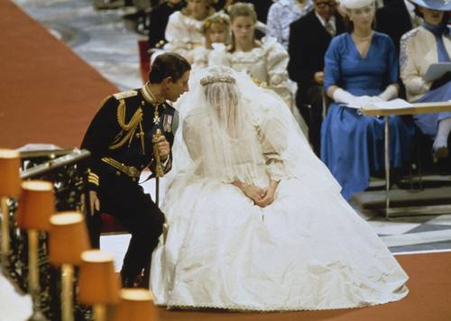 The wedding of Prince Charles and Lady Diana Spencer at St Paul's Cathedral in London, 29th July 1981. (Photo by Keystone/Hulton Archive/Getty Images)