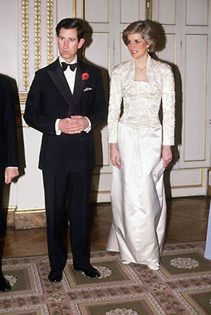 Princess Diana pictured at the British Ambassador's Residence, where William and Kate will be guests of honour Photo (C) GETTY IMAGES