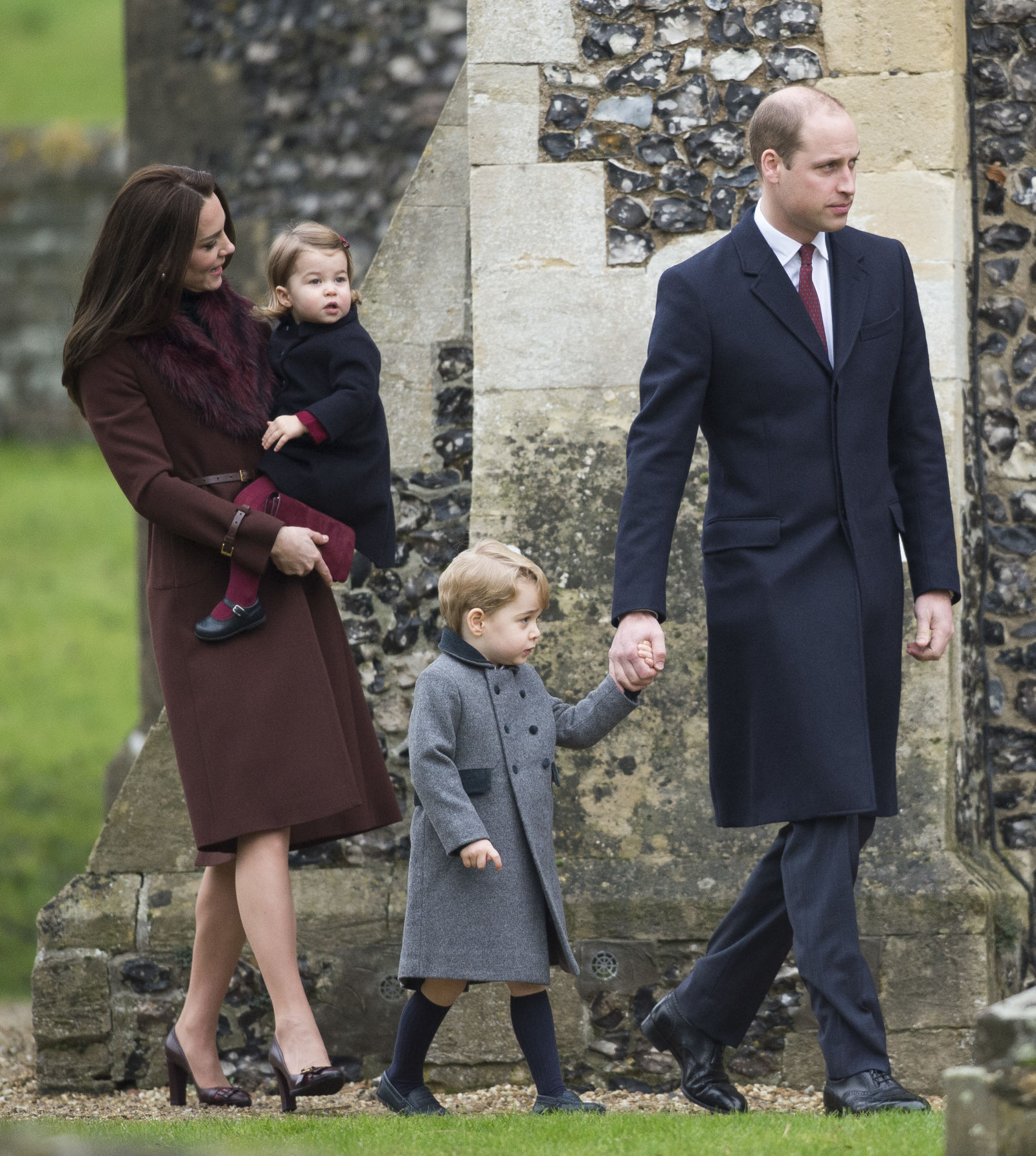 Prince George and Princess Charlotte Elizabeth Diana Photo (C) GETTY IMAGES