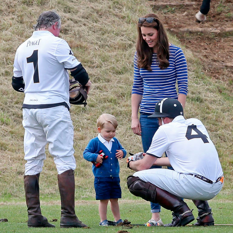 Prince George at a polo match for charity Photo (C) GETTY IMAGES