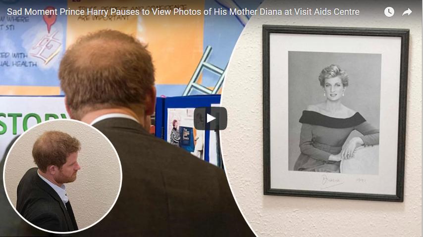 Prince Harry pause to see Princess Diana Photo