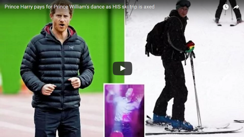 Prince Harry pays for Prince Williams dance as HIS ski trip is axed