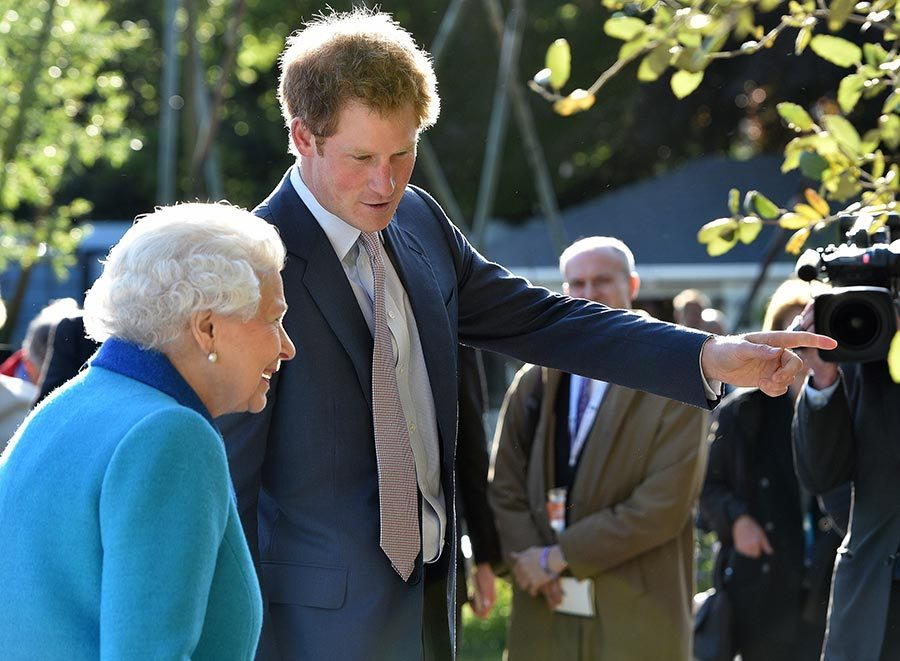 Prince Harry was very happy when he was with them and now he's under orders from back home to settle Photo (C) GETTY